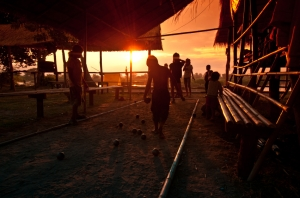 Local-Laotian-children-are-playing-Petanque-in-the-evening-scene-of-Si-Phan-Don-Laos.