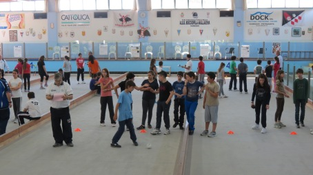 il bocciodromo con gli studenti