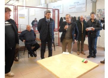 40 anni del bocciodromo comunale di Grosseto - un moemnto della visita degli assessori