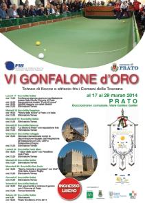 VI Gonfalone d'Oro Prato Immagine volantino