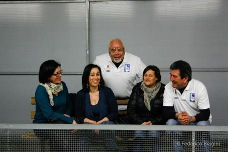 Gruppo sorridente al VI Gonfalone Oro Prima Partita foto di Federico Biagini