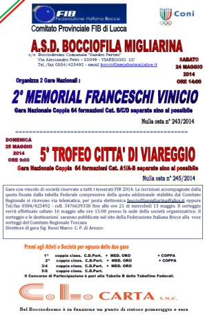 Migliarina Memorial Franceschi e Trofeo Viareggio