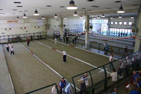 L'impianto di gara a Cecina