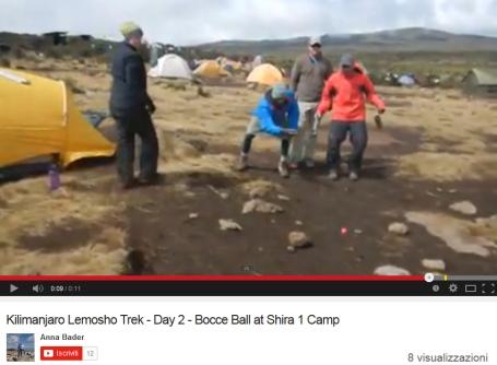 Bocce sul Kilimangiaro con Anna Bader