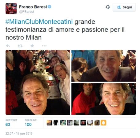 Baresi Twitta da Montecatini