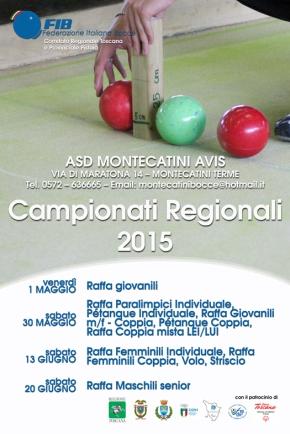 Campionati Regionali 2015 - manifesto generale-piccolo
