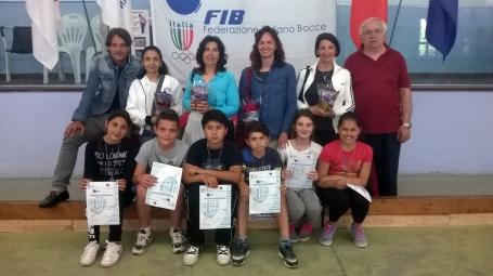il Presidente della Migliarina con le professoresse e i vincitori
