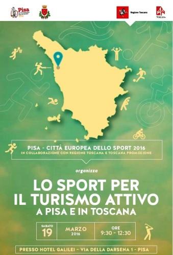 manifesto convegno sport a Pisa 19 marzo 2016