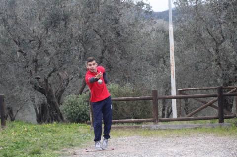 Pietro Marranchelli in una fase di gioco