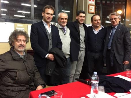 Porciani, Sanzo, GOsti, De Sanctis, Cellerini e Rosati alla Bocciofia Sestese