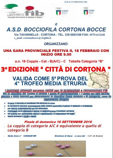 Citta di Cortona Trofeo Media Etruria 18 febbraio