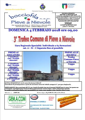 Trofeo Comune Pieve a Nievole 4 febbraio