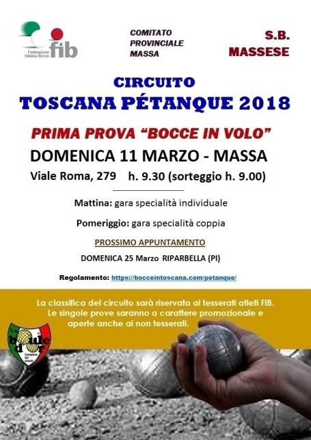 1 LOCANDINA CIRCUITO PETANQUE 2018 11 MARZO MASSA