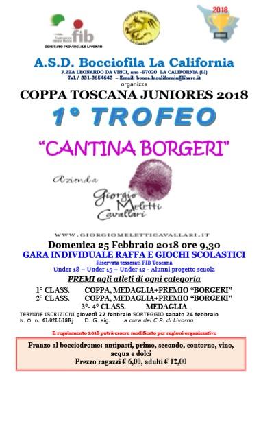 Coppa Toscana Junior La California 25 febbraio