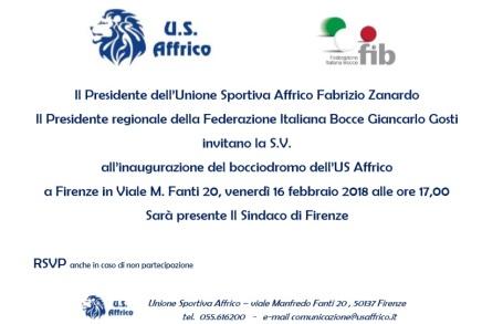 Invito Inaugurazione Affrico 16 novembre