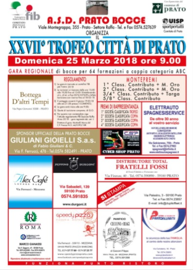 Trofeo Citta di Prato 25 marzo