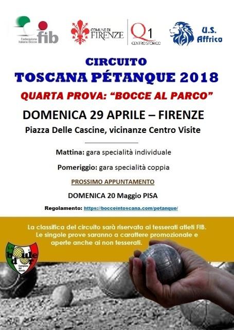 Locandina Petanque Firenze 29 aprile