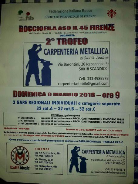 Trofeo Carpenteria Metallica Il 45 6 maggio