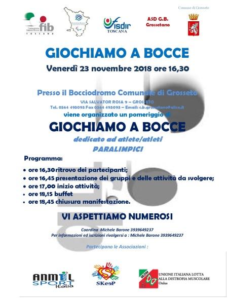 grossetano copia definitiva locandina giornata promozionale paralimpica 23.11.2018-001