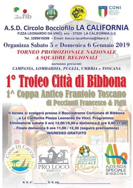 Primo Trofeo Citta di Bibbona 5-6 gennaio 2019