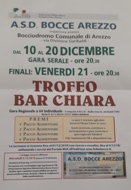 Trofeo Bar Chiara Arezzo 10 dicembre