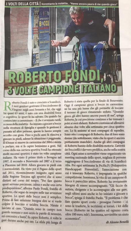Roberto Fondi campione