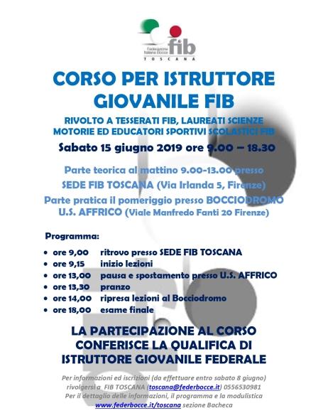 22 05 2019 - Volantino Corso Istruttore Giovanile FIB Toscana_page-0001