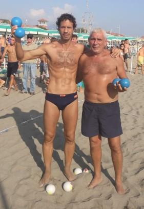 Beach Bocce 2019 Marina di Massa - Vincitori Docente e De Stefano