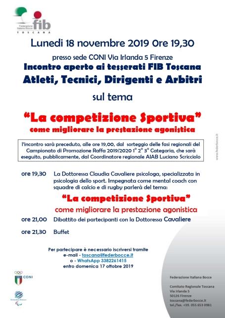 La Competizione Sportiva 18 11 19