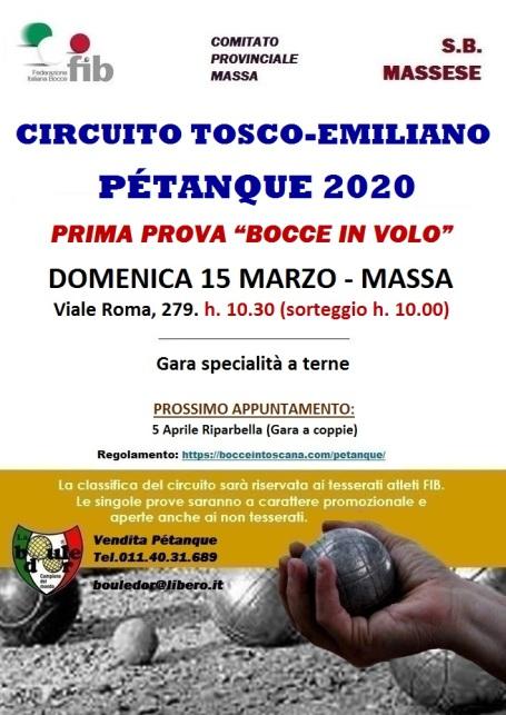 LOCANDINA CIRCUITO PETANQUE 2020 15 MARZO MASSA