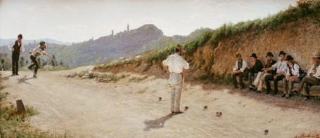 Morbelli - La partita a bocce - 1885