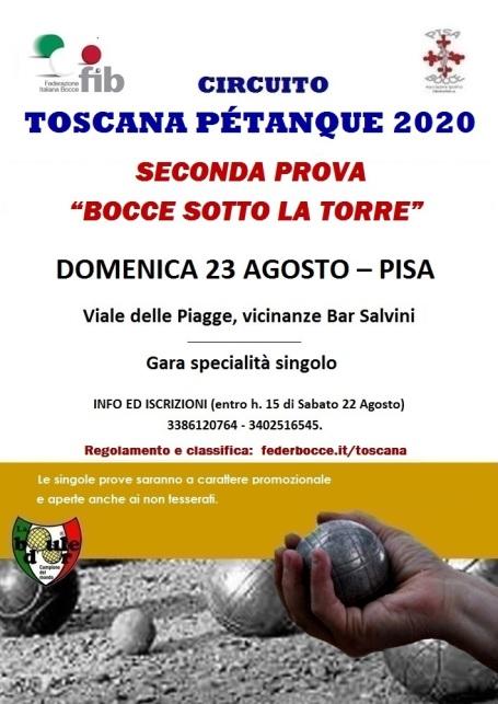 Circuito Petanque Toscana Tappa 2 23 08 20 Pisa